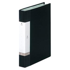 (業務用20セット) LIHITLAB クリアブック/クリアファイル リクエスト 【A4/タテ型】 固定式 60ポケット G3203-24 黒