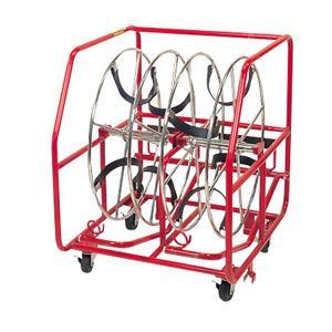 電線リール 【リール径:φ450mm (2連)】 積み重ね可能 自動ブレーキ付き プロメイト E-9102