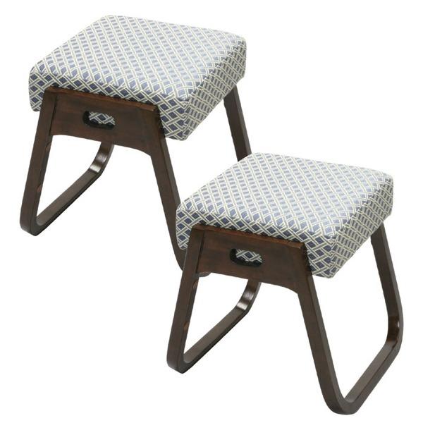 木製スタッキングスツール 「座・楽椅子」 【2脚組】 高さ40cm (和室/洋室/仏事/来客用)