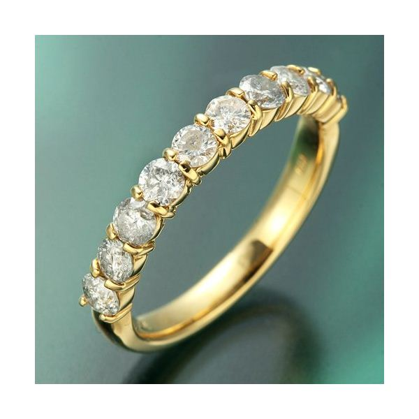 K18YG(イエローゴールド) ダイヤリング 指輪 1.0ctエタニティリング 19号