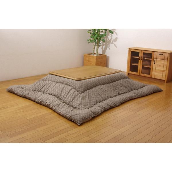 インド綿 こたつ布団 こたつ厚掛け布団 単品 ベージュ 205×205cm
