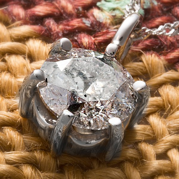 プラチナPt900 1.2ctダイヤモンドペンダント/ネックレス(鑑別書付き)