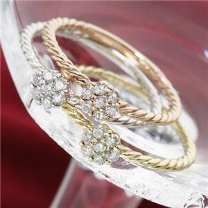 K14ホワイトゴールド ダイヤリング 指輪 9号UzSqMVpLG