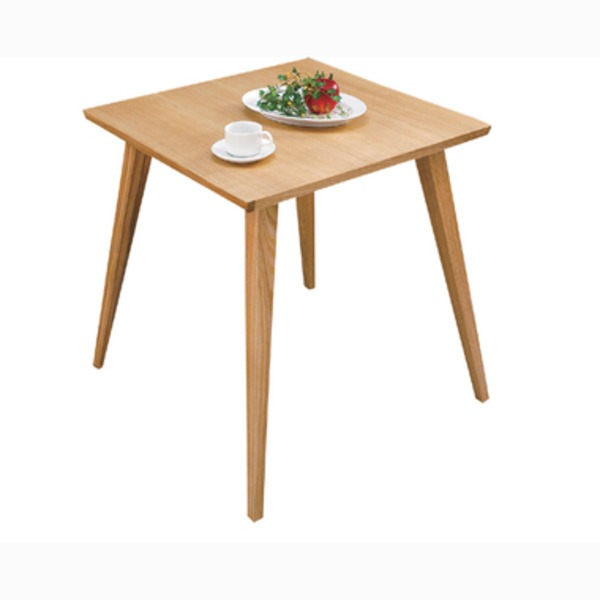 【単品】ダイニングテーブル 【バンビ】 正方形 木製 2人掛けサイズ CL-786TNA ナチュラル