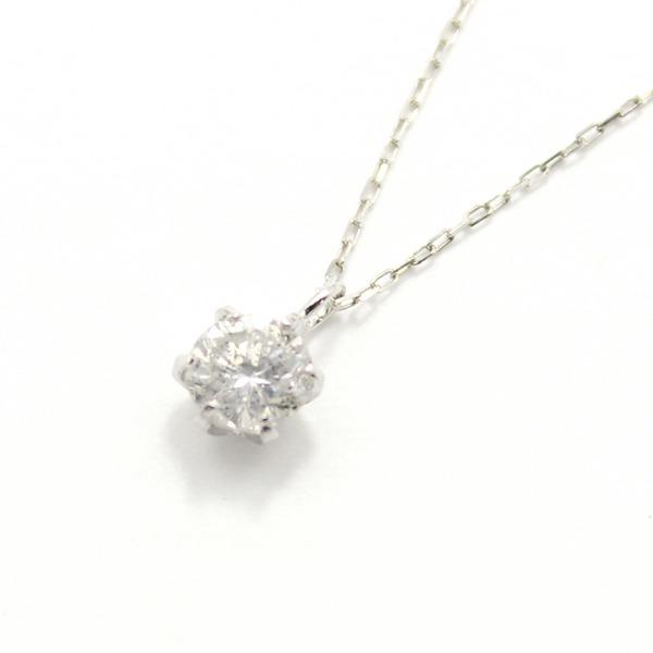 造幣局刻印 純プラチナ 0.3ct ダイヤモンドペンダント/ネックレス アズキチェーン【代引不可】