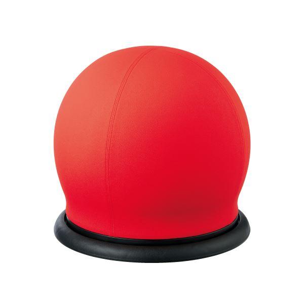 CMC スツール型バランスボール/オフィスチェア 【回転タイプ】 レッド(赤) BC-B RE