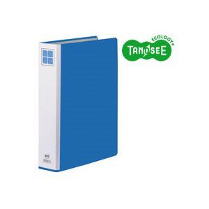 (まとめ)TANOSEE 両開きパイプ式ファイルE A4タテ 40mmとじ 青 30冊
