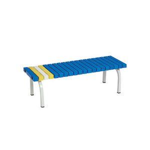 テラモト ホームベンチ 規格1200 青 BC-302-012-3 1台