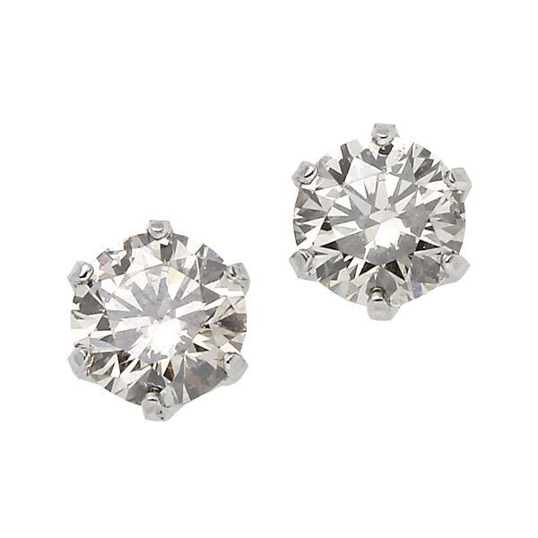 ダイヤモンド ピアス 一粒 プラチナ Pt900 0.3ct スタッドピアス ダイヤピアス 0.3カラット シンプル
