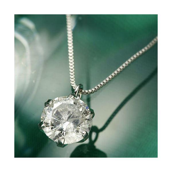 プラチナPt0.6ctダイヤモンドペンダント/ネックレスベネチアンチェーン