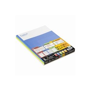 (業務用30セット)ナカバヤシ ロジカルノートセミB5 B罫5冊 ノ-B501B-5P
