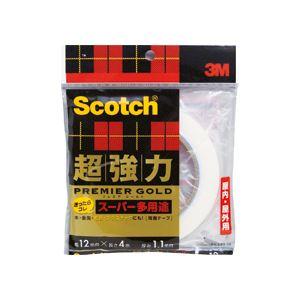 (まとめ)スコッチ 超強力両面テープ プレミアゴールド (スーパー多用途)12mm×4m 20巻