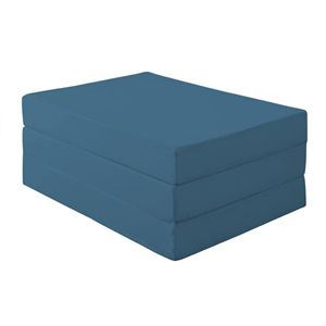 マットレス ダブル 厚さ12cm ブルーグリーン 新20色 厚さが選べるバランス三つ折りマットレス【代引不可】