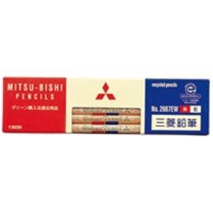 (業務用50セット) 三菱鉛筆 リサイクル色鉛筆 K2667EW 朱藍 12本