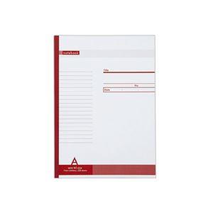 (まとめ) TANOSEE ノートブック セミB5 A罫7mm 50枚 1セット(50冊) 【×5セット】