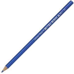 (業務用50セット) 三菱鉛筆 色鉛筆 K880.33 青 12本入