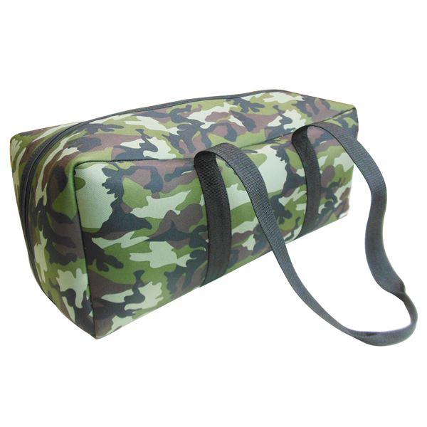 (業務用10個セット) DBLTACT トレジャーボックス(作業バッグ/手提げ鞄) LLサイズ 自立型/軽量 DTQ-LL-CA 迷彩 〔収納用具〕