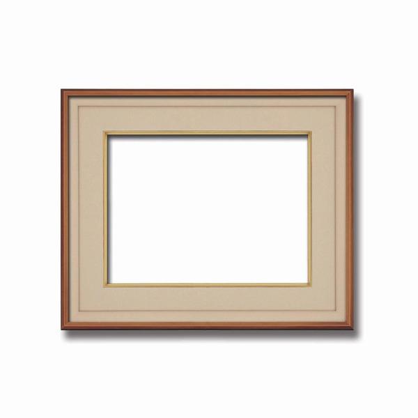 【高級日本画額】前面アクリル仕様 高級和額 厚みのある作品収納可 ■高級色紙F6サイズ(410×318mm)ベージュ