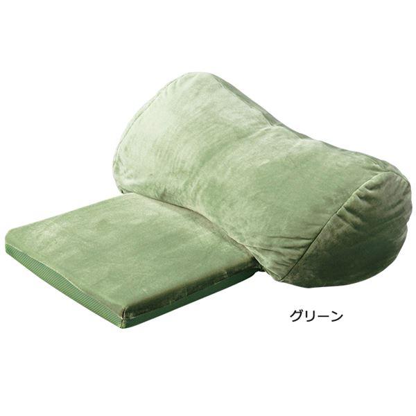 うっとりクッション/大判クッション 【大】 リバーシブル仕様 グリーン(緑)