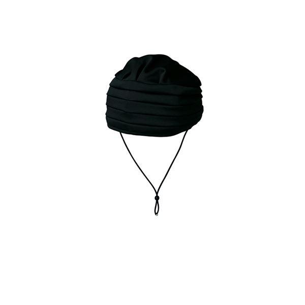 (まとめ)キヨタ 保護帽 おでかけヘッドガードEタイプ(ターバンタイプ)M ブラック KM-1000E【×2セット】