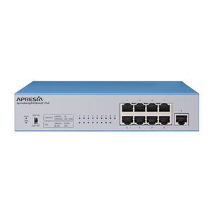 APRESIA Systems ApresiaLightGB109T-PoE【5年間先出しセンドバック付】PoE+対応レイヤー2ノンインテリジェントスイッチングHUB (8port)