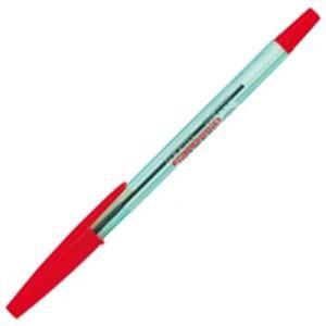 (業務用100セット) ZEBRA ゼブラ 油性ボールペン/ニュークリスタルケアS 【0.7mm/赤】 10本入り キャップ式 BNR1-R ×100セット
