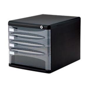 (業務用5セット) ナカバヤシ デスクトップ4段 A4-SK4D ブラック
