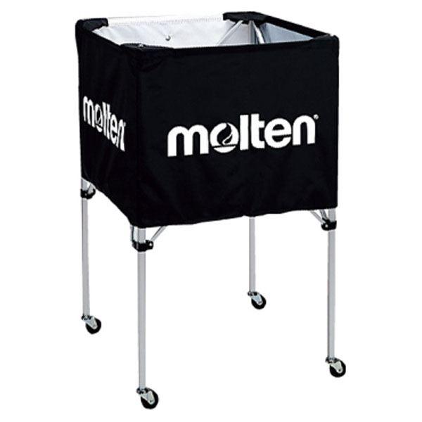 【モルテン Molten】 折りたたみ式 ボールカゴ 【中・背高 屋内用 ブラック】 幅63×奥行63cm キャスター ケース付き