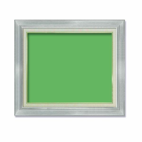 【油額】油絵額・キャンバス額・金の油絵額・銀の油絵額 ■油絵額 F10号(530×455mm)「シルバー」