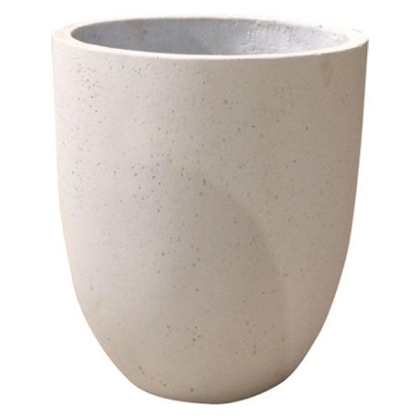 軽量コンクリート製 植木鉢/プランター 【ホワイト 直径43cm】 底穴あり 『フォリオ アルトエッグ』