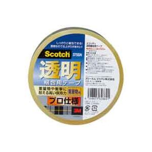 (業務用100セット) スリーエム 3M 透明梱包用テープ 375SN