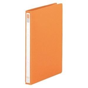 (業務用100セット) LIHITLAB リング式ファイル 【A4/2穴】 タテ型 背幅:27mm F-867U-4 橙