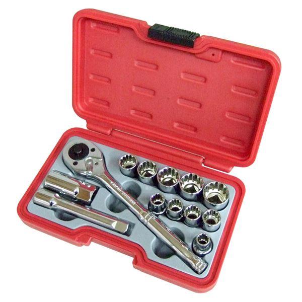 (業務用3個セット) H&H ソケットレンチセット/作業工具 【13個入り】 差込角:12.7mm H-4013 1/2