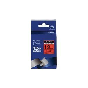 (業務用30セット) brother ブラザー工業 文字テープ/ラベルプリンター用テープ 【幅:12mm】 TZe-431 赤に黒文字