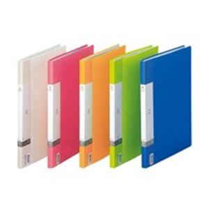 (業務用100セット) LIHITLAB クリアファイル/ポケットファイル 【A4/A3】 タテ型/サイドイン 40ポケット 固定式 G3401-3 赤