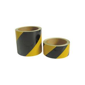 (業務用30セット) 熱田資材 安全反射標識テープ 45mm×10m 斜めシマ