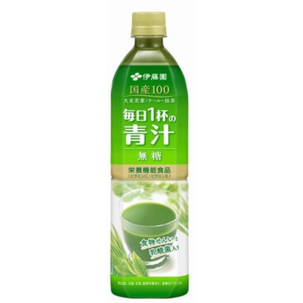【まとめ買い】伊藤園 毎日1杯の青汁 無糖 PET 900g×24本(12本×2ケース)