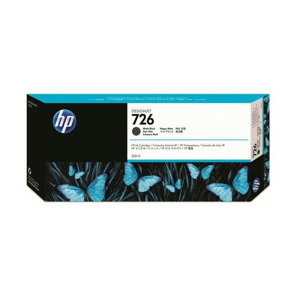 (まとめ) HP726 インクカートリッジ マットブラック 300ml 顔料系 CH575A 1個 【×3セット】