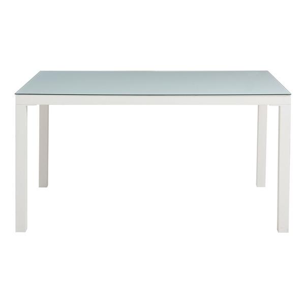 あずま工芸 TOCOM interior(トコムインテリア) ダイニングテーブル 強化ガラス天板 135×80cm【2梱包】 ホワイト GDT-7631【代引不可】
