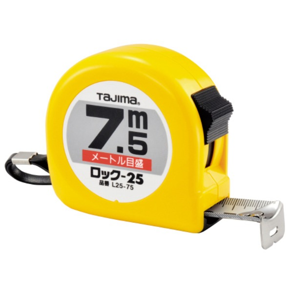 丈夫な幅広テープなので、測りやすくて見やすい 事務用品 まとめ (業務用10セット) TJMデザイン ロック25 L25-75BL 幅25mm×7.5m