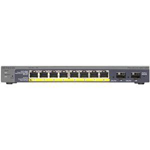 NETGEAR Inc. GS110TP ギガ10ポート スマートスイッチ(PoE 8ポート + SFP 2スロット)