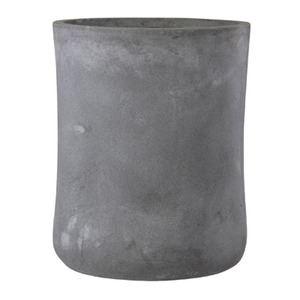 ファイバークレイ製 軽量 大型植木鉢 バスク ミドル 37cm グレー