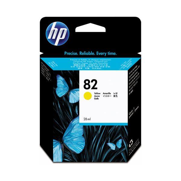 (まとめ) HP82 インクカートリッジ イエロー 28ml 染料系 CH568A 1個 【×3セット】