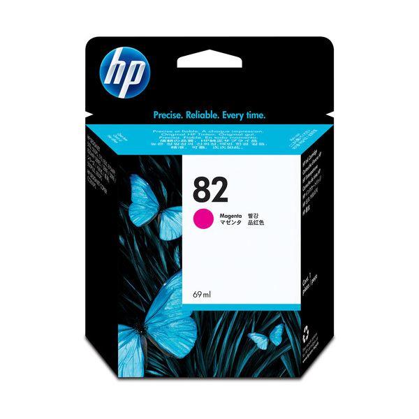 (まとめ) HP82 インクカートリッジ マゼンタ 染料系 C4912A 1個 【×3セット】
