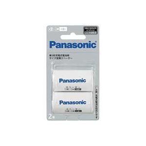 (業務用100セット) Panasonic パナソニック 単2サイズスペーサー BQ-BS2/2B(2本入)