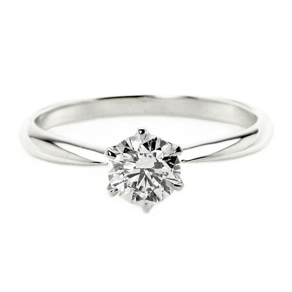 ダイヤモンド ブライダル リング プラチナ Pt900 0.5ct ダイヤ指輪 Dカラー SI2 Excellent EXハート&キューピット エクセレント 鑑定書付き 16.5号