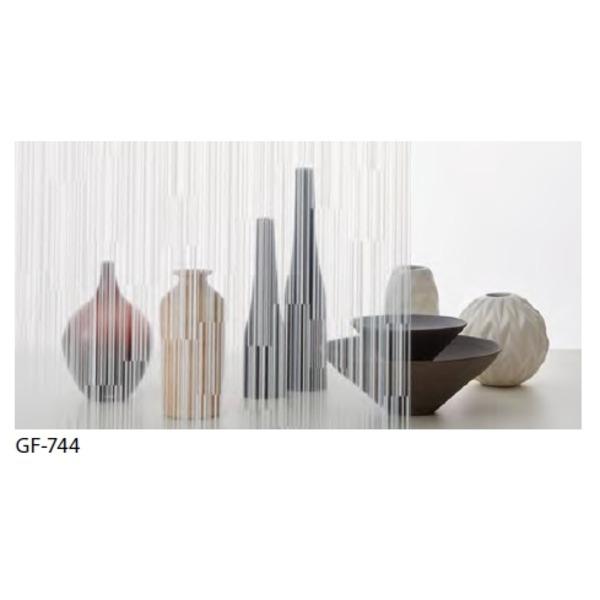 幾何柄 飛散防止ガラスフィルム サンゲツ GF-744 92cm巾 7m巻
