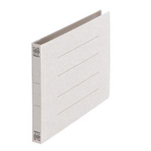 (業務用50セット) プラス フラットファイル/紙バインダー 【A5/2穴 10冊入り】 ヨコ型 042N グレー(灰) ×50セット