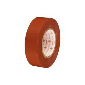 (業務用300セット) ヤマト ビニールテープ/粘着テープ 【19mm×10m/茶】 NO200-19