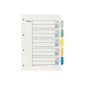 (業務用50セット) キングジム カラーインデックス/ファイル用仕切り 【A4/4穴 タテ型】 10組入り 907-4